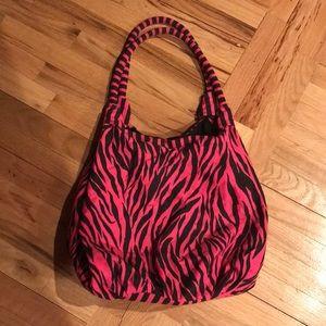 Handbags - Pink and black zebra strip hobo bag 🖤💕
